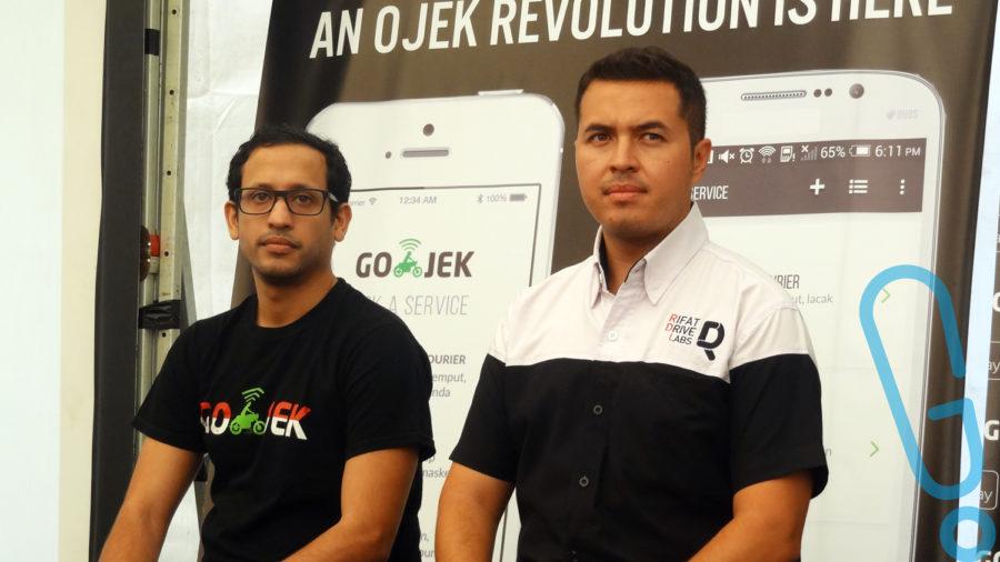 Nadiem Makarim dan RIfat Sungkar saat press conference Street Smart Program. (foto: Genmuda.com/2015 Rima)