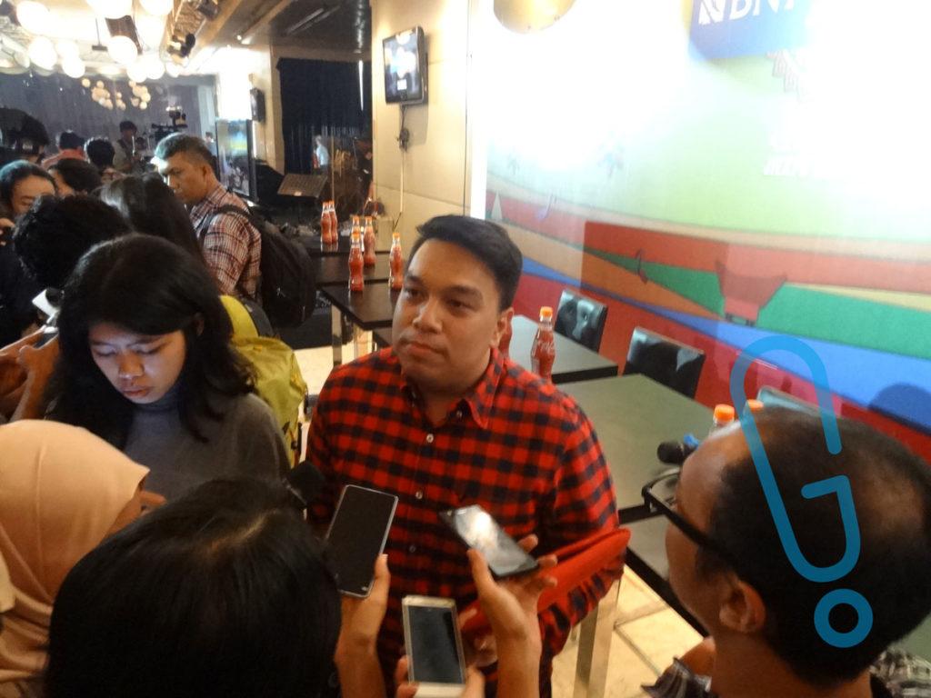 Ifa Fachir, Koordinator Program Indonesia Java Jazz Festival 2016 di acara jumpa pers di Hotel Sultan, Jakarta, Selasa (26/1) (Foto: Genmuda.com/2016 Bobi)