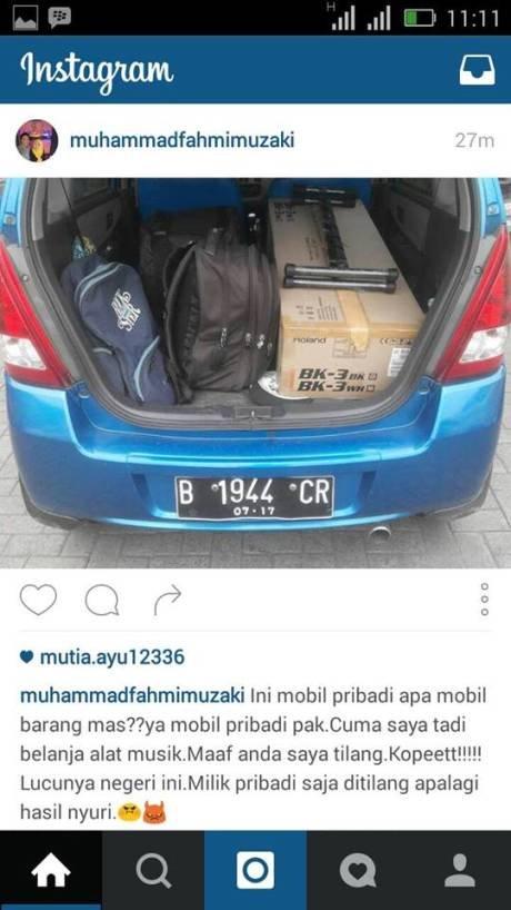 Mobil ditilang karena bawa barang (c) Pertamax7