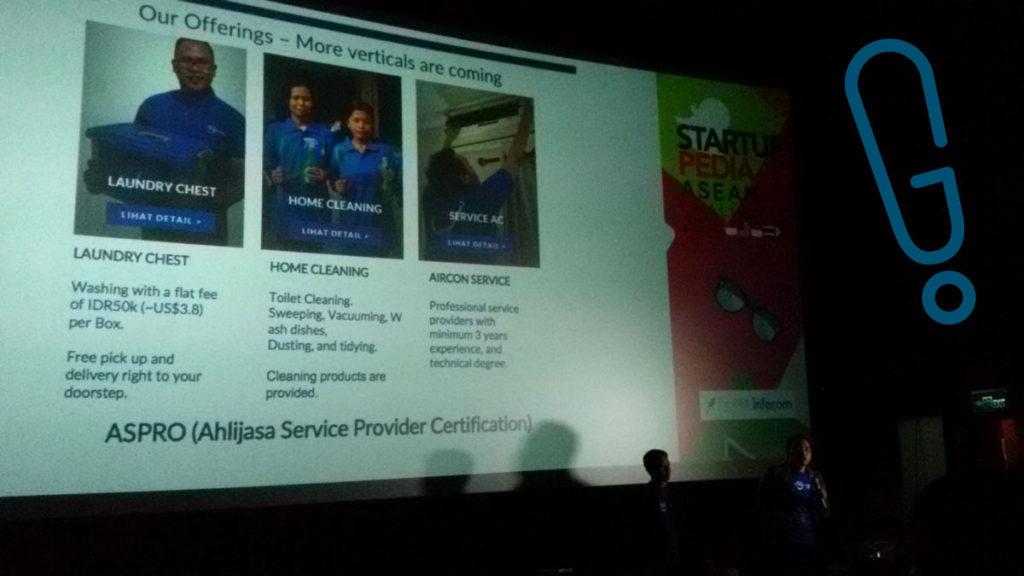Presentasi Tim Ahlijasa di grand final Startuppedia ASEAN Challenge 2016 di Bioskop Cinemaxx FX Sudirman, Selasa (23/2) (Foto: Genmuda.com/2016 Gabby)