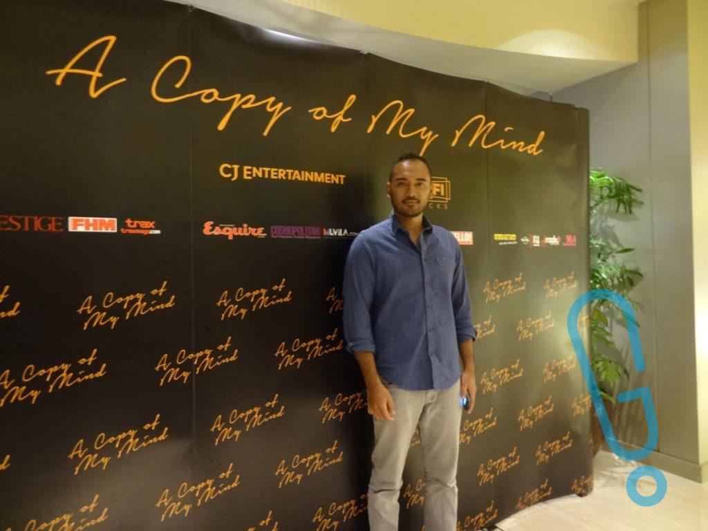 Ario Bayu di acara jumpa pers 'A Copy of My Mind' di Plaza Indonesia XXI, Rabu (3/2) (Foto: Genmuda.com/2016 Gabby)