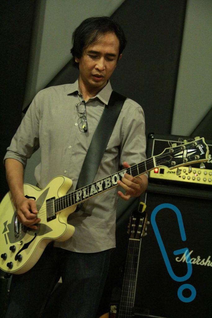 Piyu saat latihan mini concert 'Best Cuts of Piyu' di G Studio, Senin (8/2) (Foto: Genmuda.com/2016 Aditya S.)