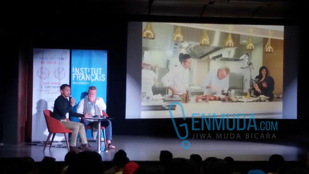 Talkshow bersama Chef Alain Passard di IFI Jakarta, Senin (21/3) (Foto: Genmuda.com/2016 Gabby)