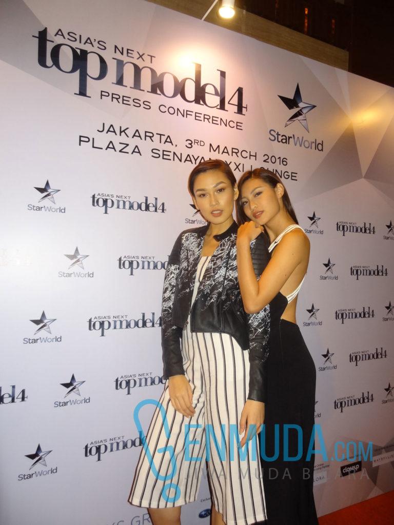 Aldilla Zahraa dan Patricia Gunawan di acara jumpa pers AsNTM 4 di XXI Lounge Plaza Senayan, Kamis (3/3) (Foto: Genmuda.com/2016 Gabby)