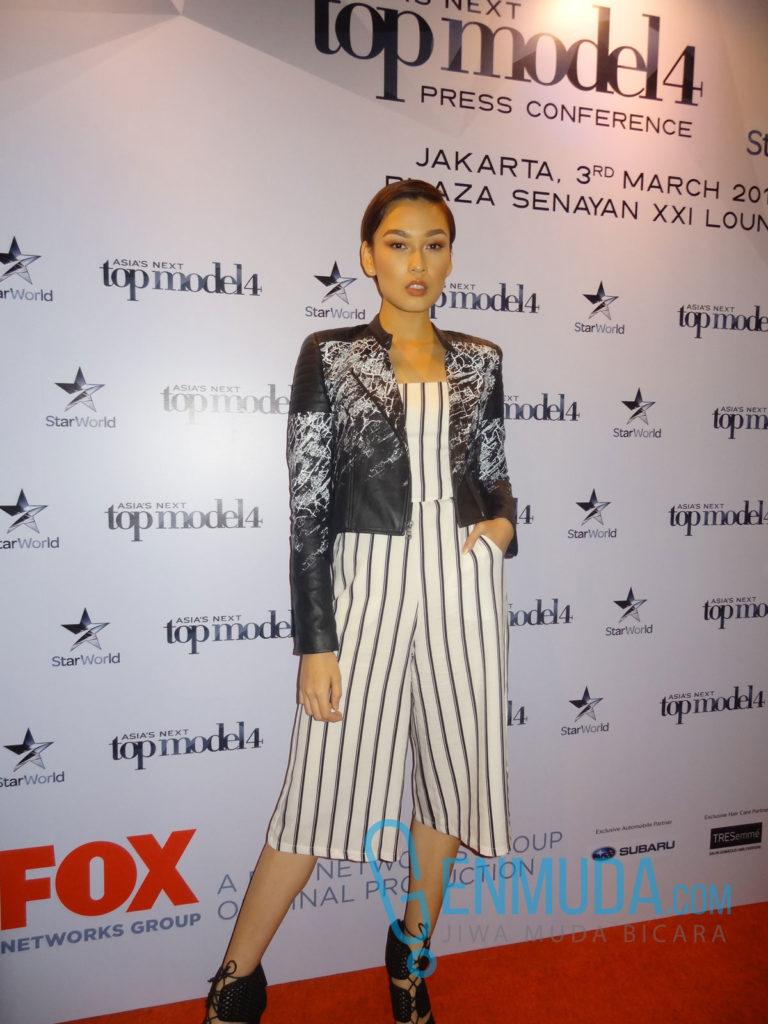 Aldilla Zahraa di acara jumpa pers AsNTM 4 di XXI Lounge Plaza Senayan, Kamis (3/3) (Foto: Genmuda.com/2016 Gabby)