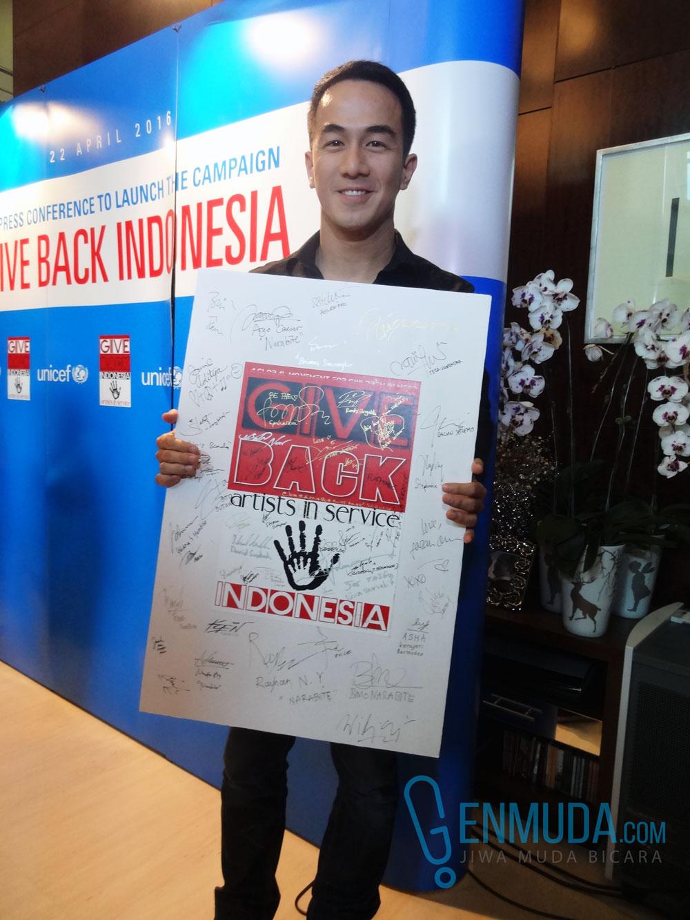Joe Taslim saat ditemui di acara peluncuran kampanye 'Give Back Indonesia' di kediaman Madam Noor Traavik di kawasan Sudirman, Jakarta, Jumat (22/4) (Foto: Genmuda.com/2016 Gabby)