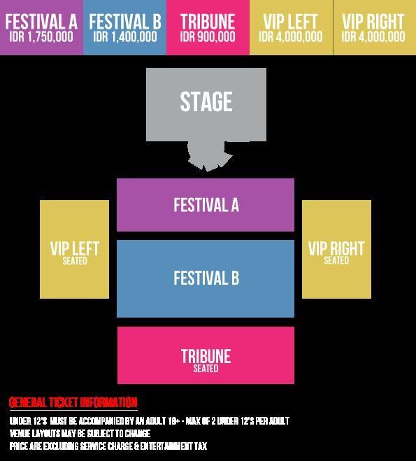 Denah kategori konser Selena Gomez di Jakarta (Sumber: selenagomezjakarta.com)