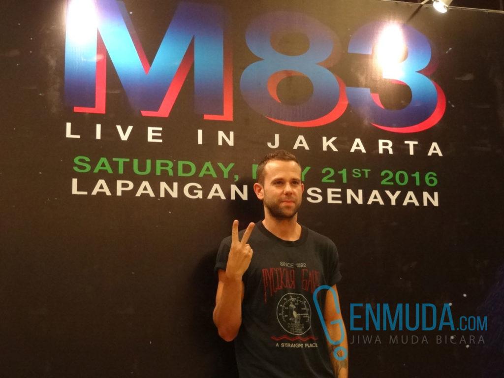 Anthony Gonzalez di konferensi pers jelang konser M83 di kawasan Senayan, Jakarta, Jumat (20/5) (Foto: Genmuda.com/2016 Gabby)