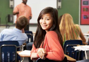 Female Teenage Pupil In Classroom