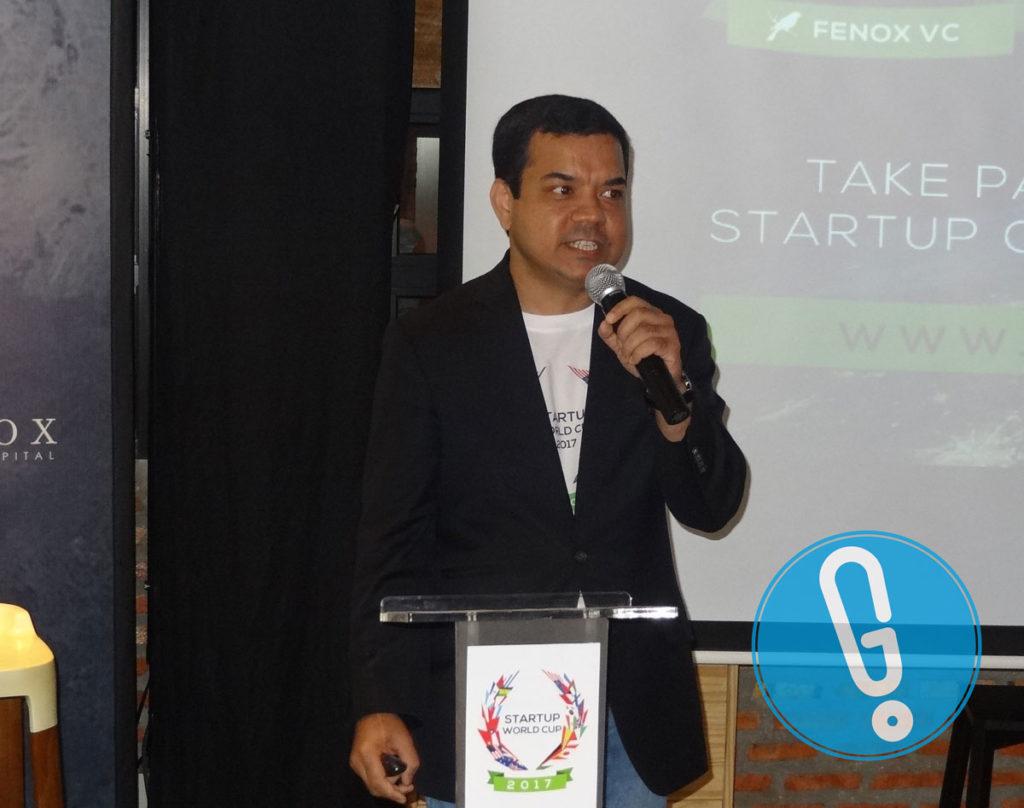 Kepala Startup World Cup 2017 sekaligus General Partner dan CEO Fenox VC, Anis Uzzaman di acara peluncuran Startup World Cup 2017 di Jakarta, Jumat (22/7) (Foto: Genmuda.com/2016 Gabby)