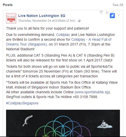 via Facebook Live Nation SG